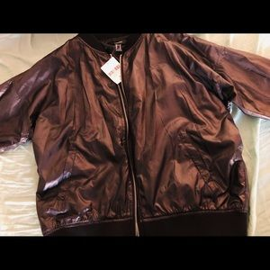 Black Forever 21 Bomber Jacket